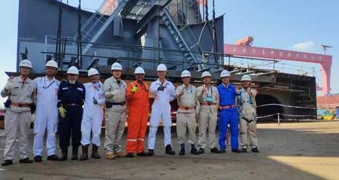 外高桥造船举行SBM项目FPSO船体总组开工仪式