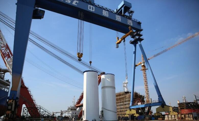 中国首个5兆瓦以上的大功率海上风电样机试验风场正式列装