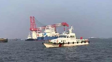 江苏大洋海装500T自升式风电安装维护平台顺利完成拖航