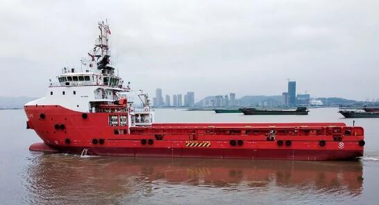 马尾造船公司75米平台供应船成功交付