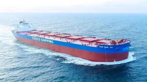 扬州中远海运重工顺利交付首装脱硫塔40万吨矿砂船