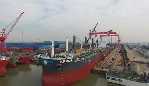 世界上首艘装有甲板风动节能装置的商船命名交付
