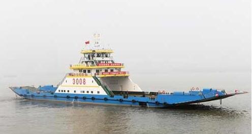 镇江船厂交付1艘60m全回转车客渡船