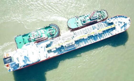 扬州金陵船厂3600吨不锈钢化学品船首制船顺利交付
