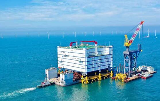 世界最大、亚洲首座海上换流站―如东海上换流站正式完成海上安装